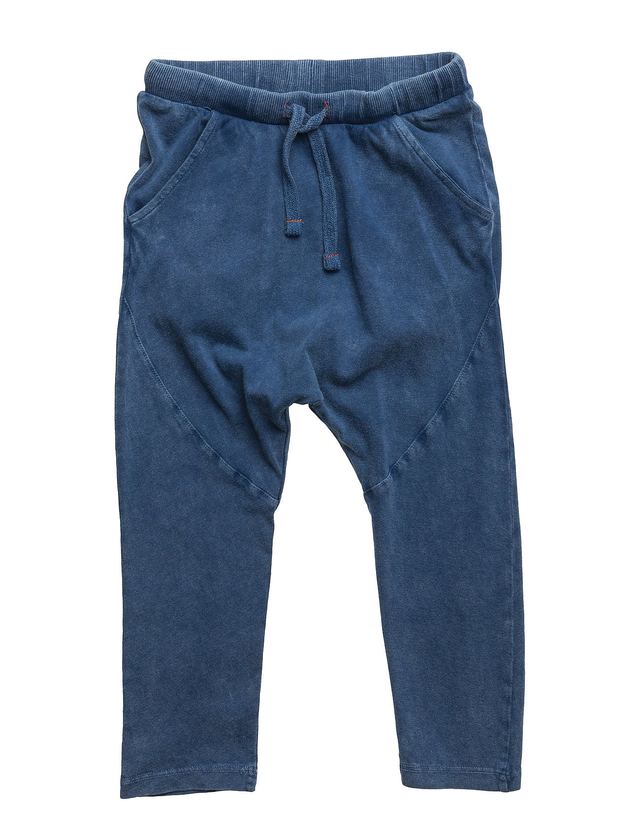 Washed Cotton-Blend Jogging Trousers Mango Kids Bukser til Drenge i Medium Blå