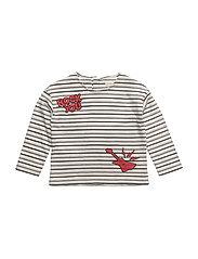 Printed striped t-shirt