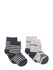 2 pack printed socks - MEDIUM BLUE