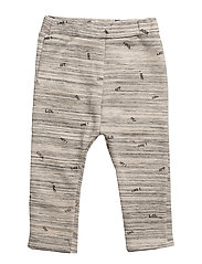 Printed jogging trousers - MEDIUM GREY
