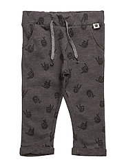 Printed jogging trousers - DARK GREY