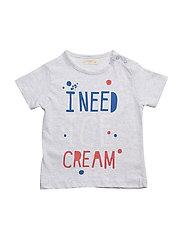 Printed cotton t-shirt - LT PASTEL GREY