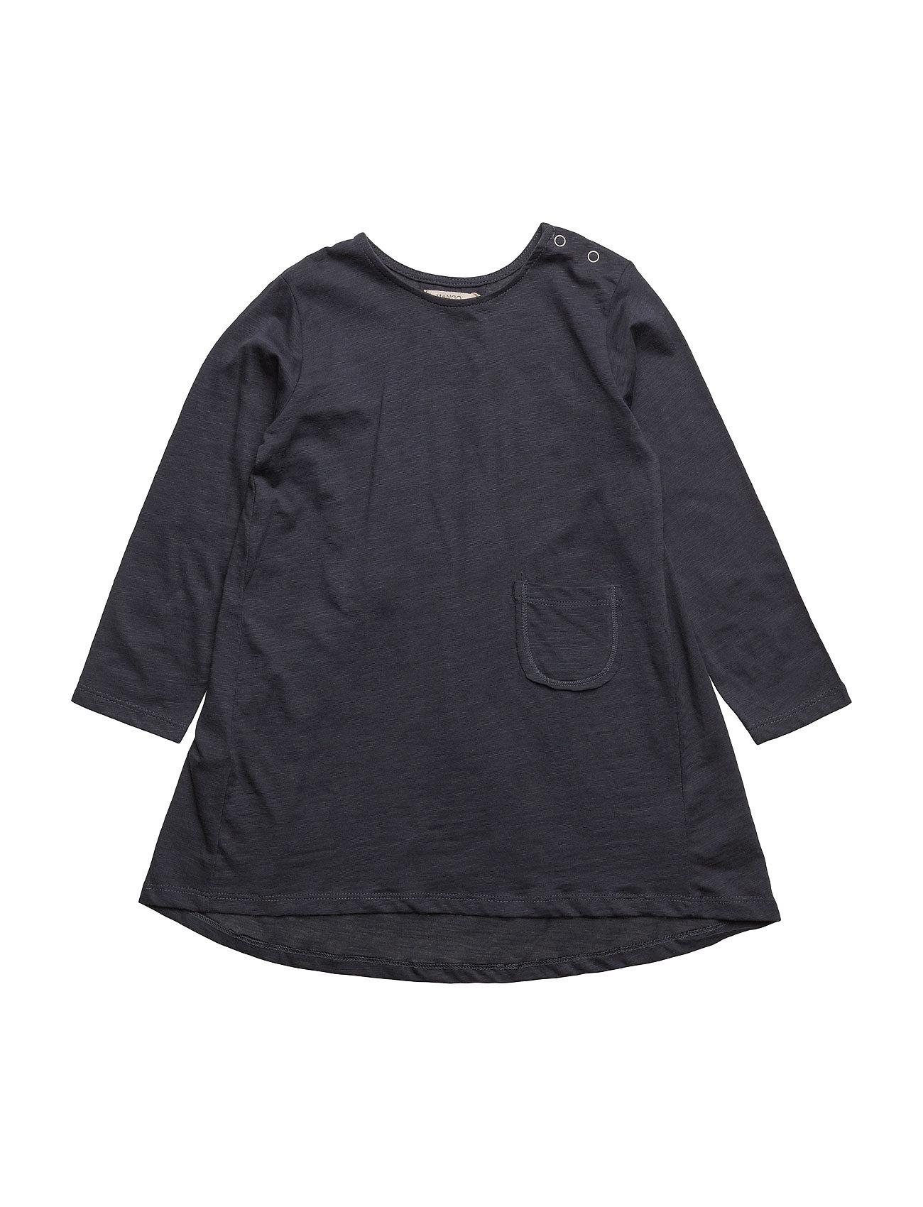 Pocket Cotton Dress Mango Kids Kjoler til Børn i Medium Blå