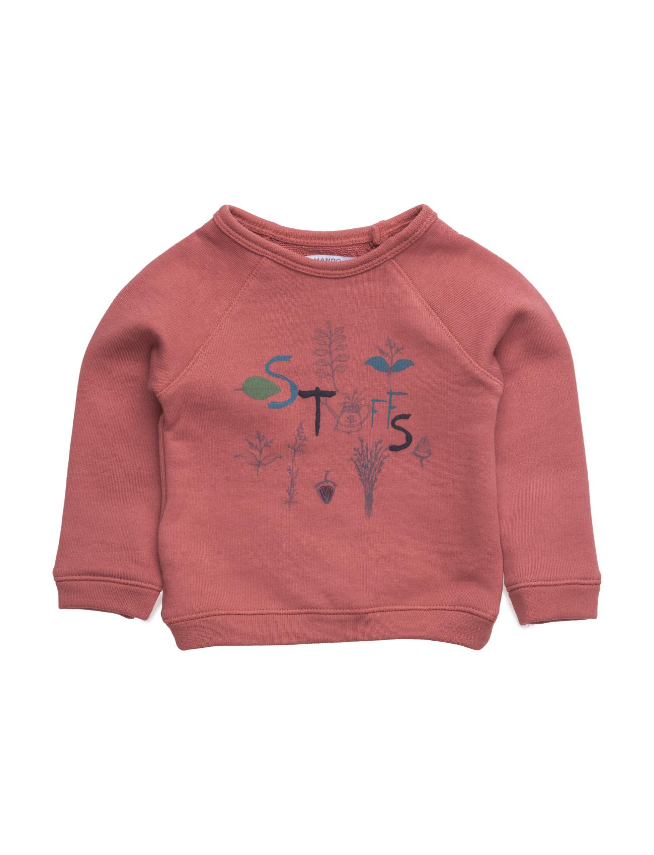 Cartoon Cotton Sweatshirt Mango Kids  til Børn i Medium Orange