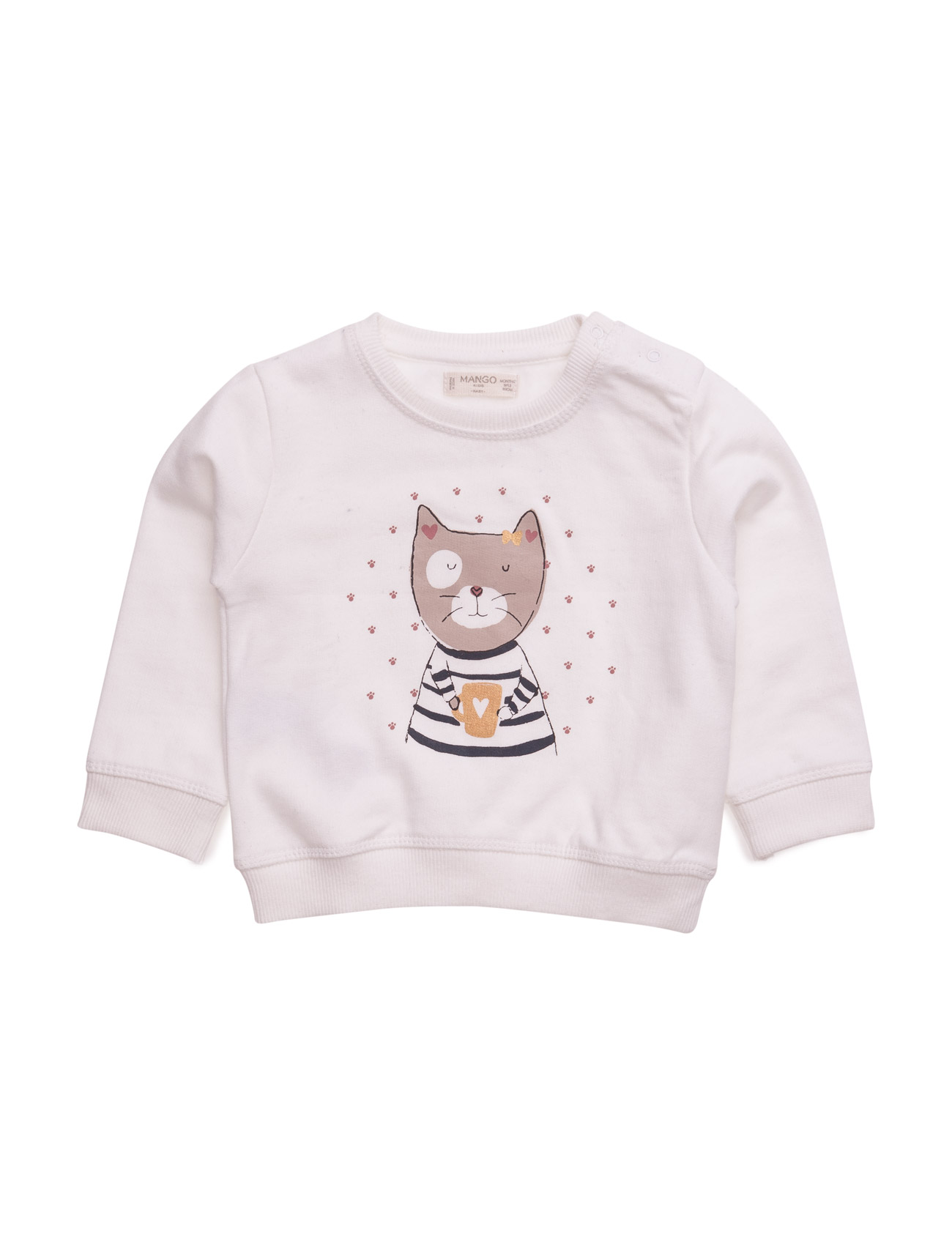 Cartoon Cotton Sweatshirt Mango Kids  til Børn i Navy blå