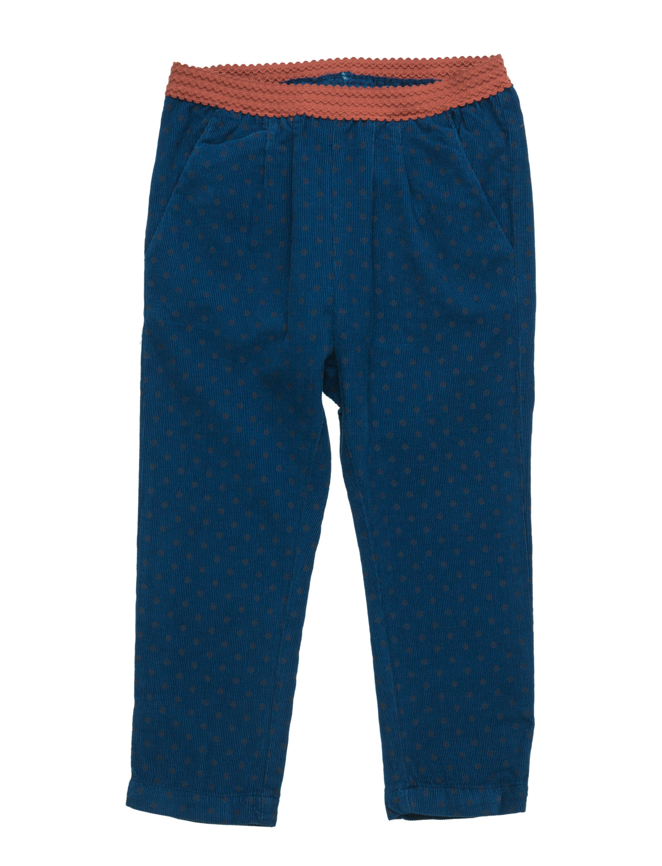 Printed Corduroy Trousers Mango Kids  til Børn i Navy blå