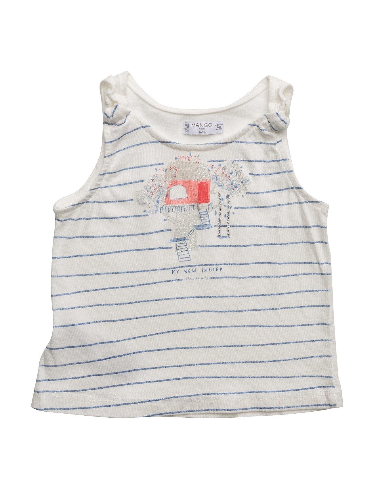 Glitter Printed T-Shirt Mango Kids Uten Ermer til  - MoteJakten.no