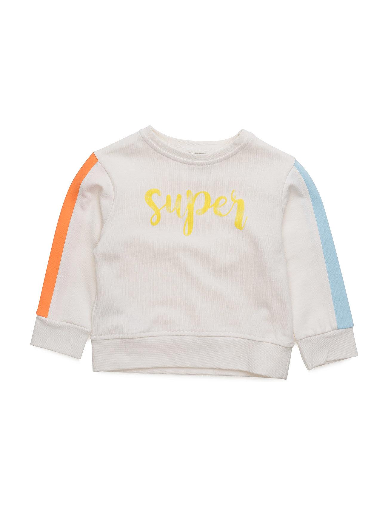 Mixed Cotton Sweatshirt Mango Kids  til Børn i hvid