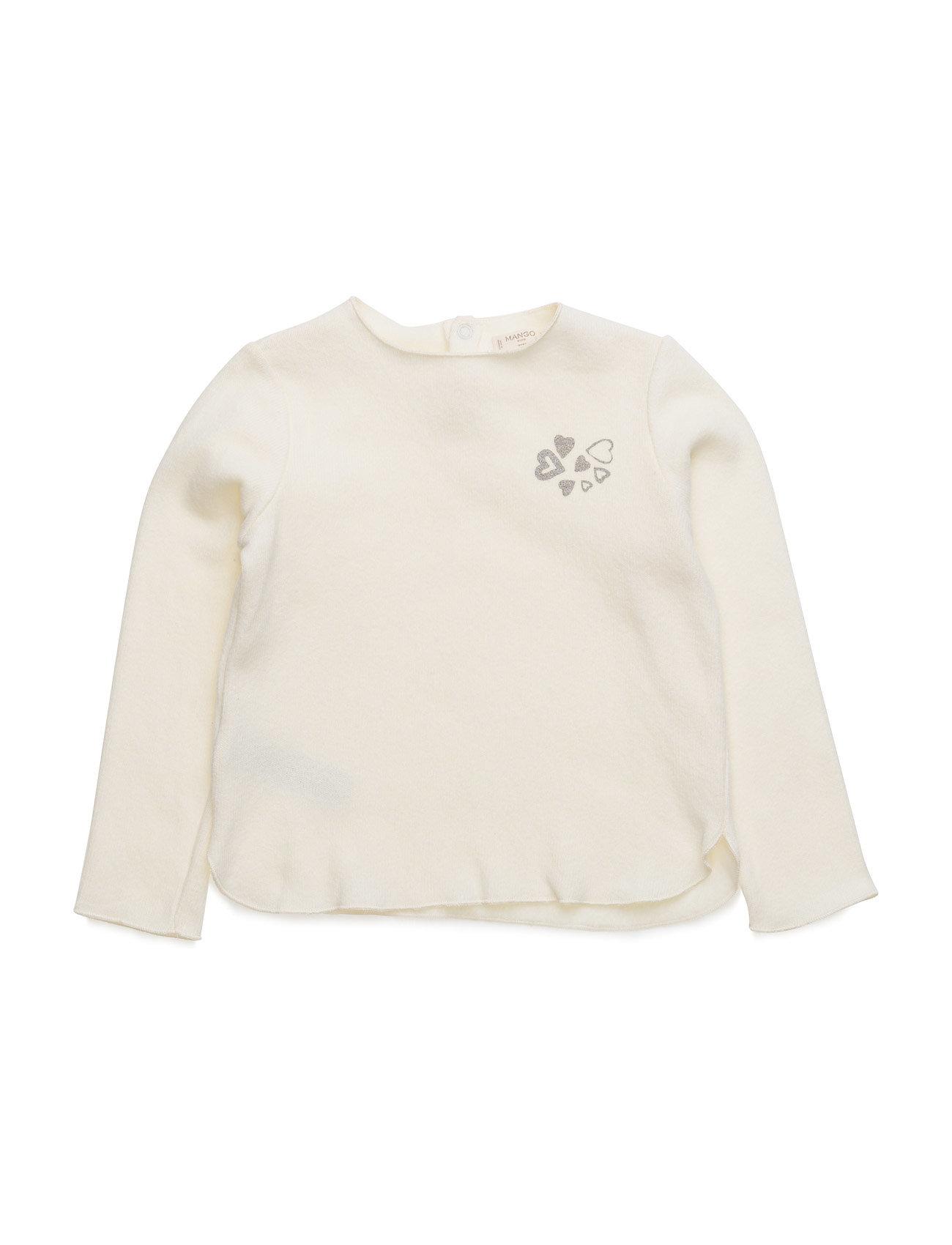 Soft Fabric Sweartshirt Mango Kids Striktrøjer til Piger i Natural White