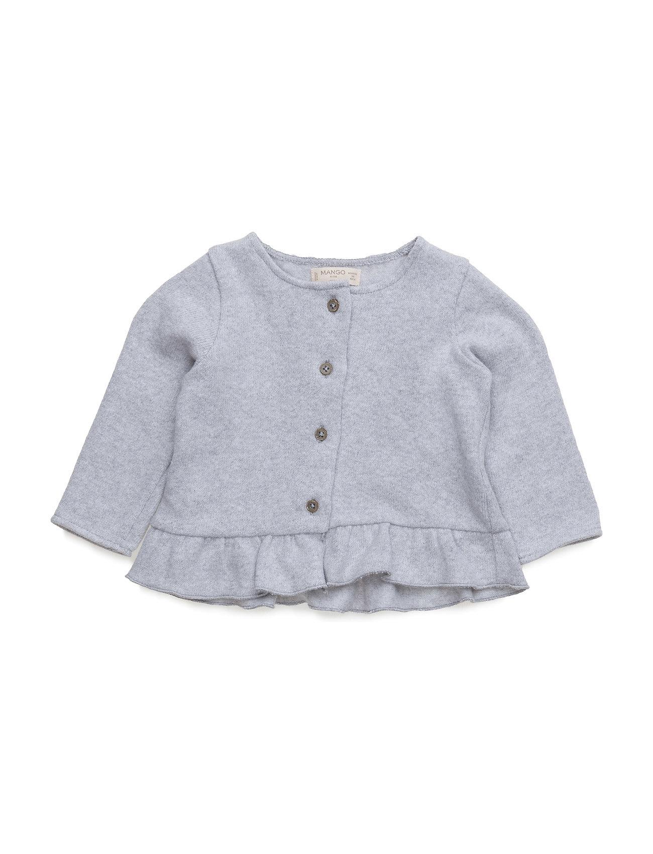 Cotton-Blend Cardigan Mango Kids  til Børn i Lt Pastel Grey