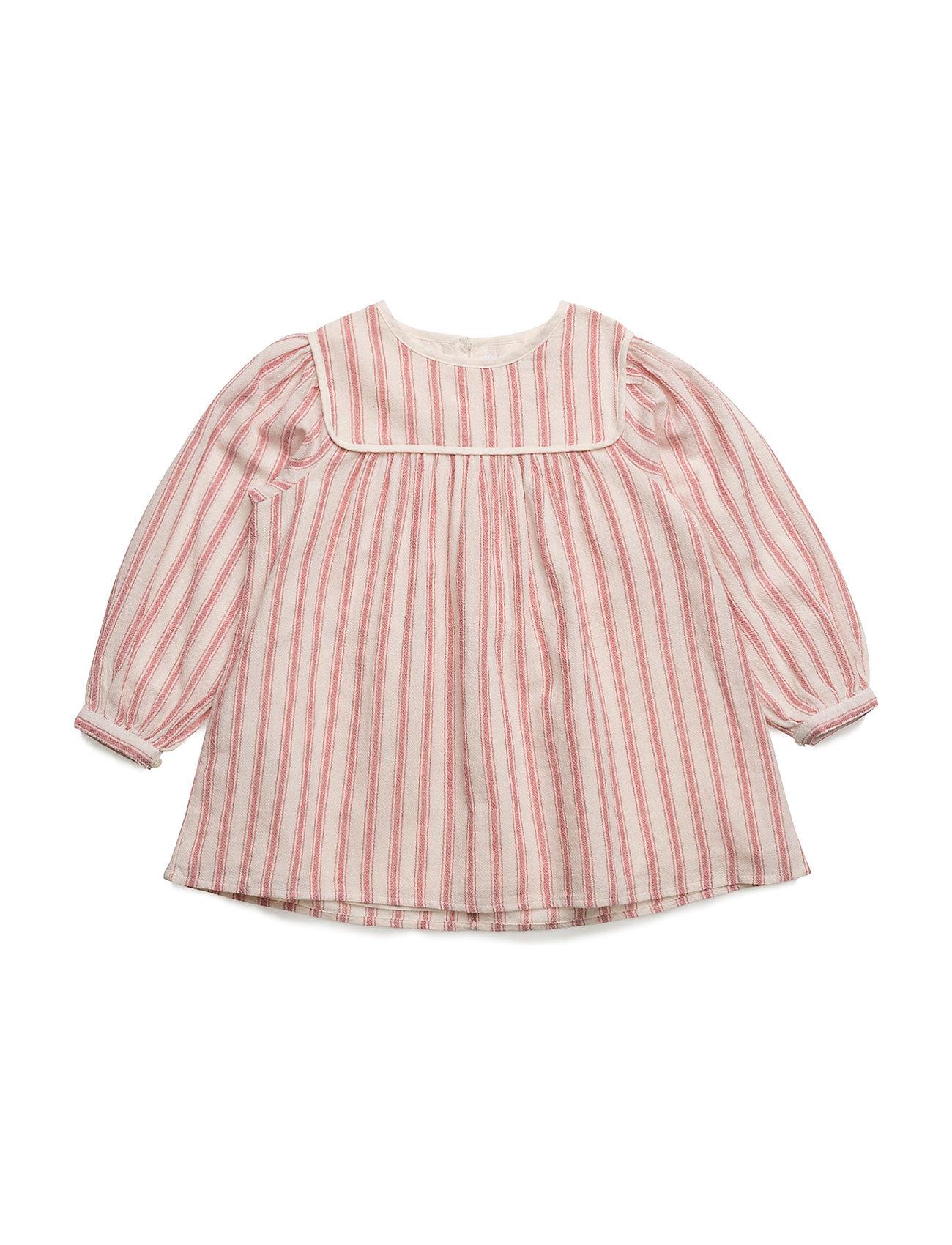 Flowy Striped Dress Mango Kids Kjoler & Nederdele til Piger i Light Beige