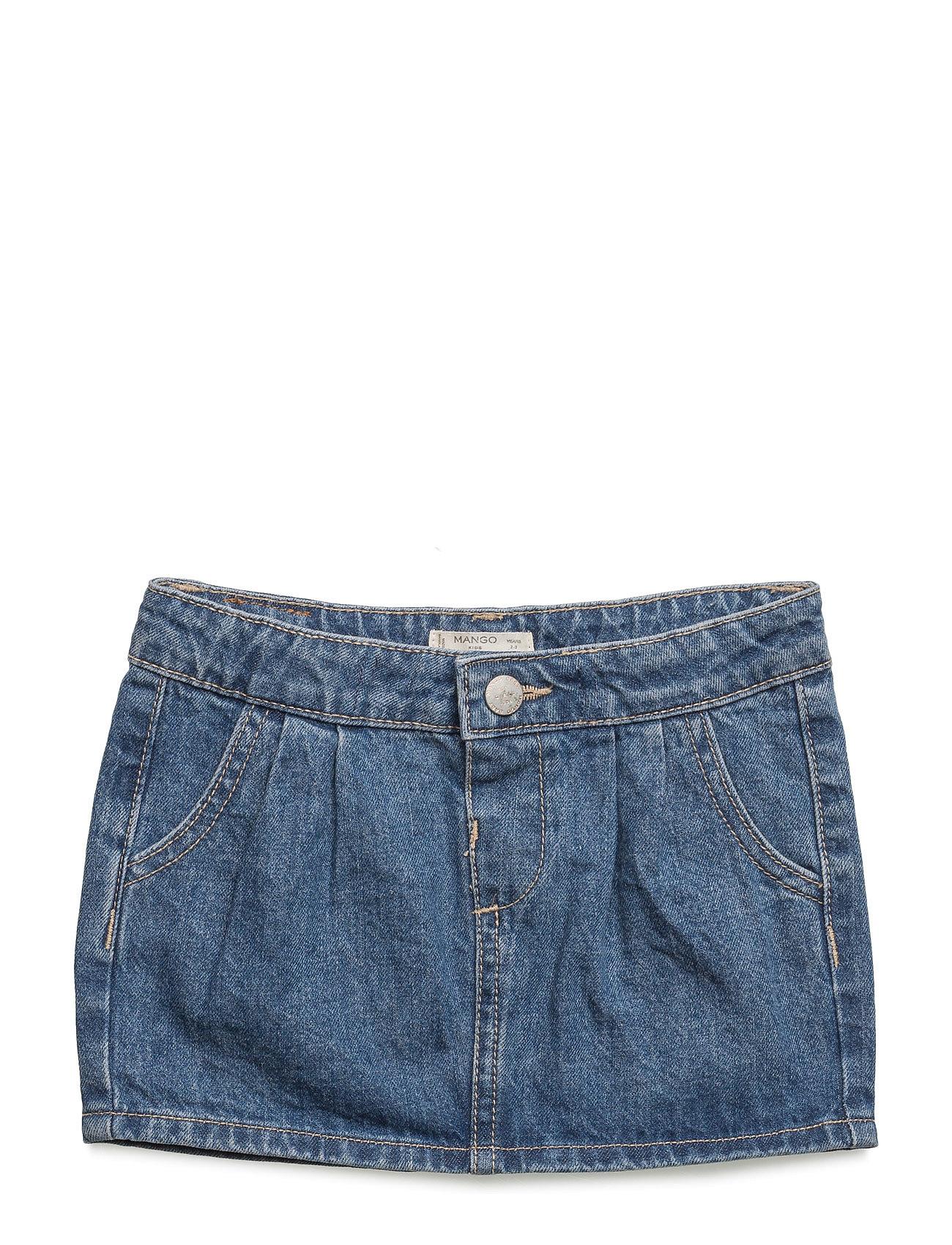 Medium Denim Skirt Mango Kids Nederdele til Børn i Open Blå