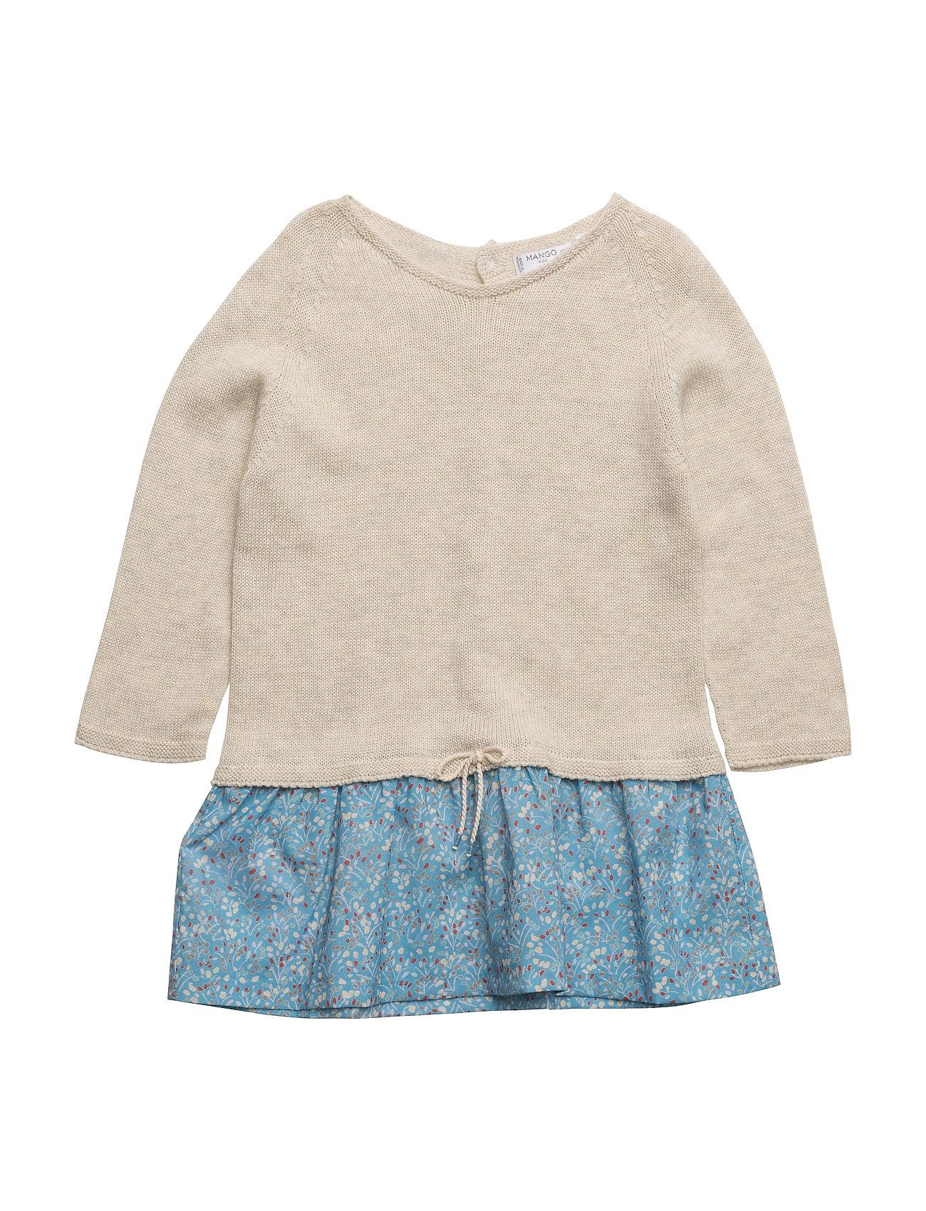 e1ad7f77fba3 Contrast-Bodice Dress Mango Kids Kjoler   Nederdele til Piger i Lt Pastel  Grey