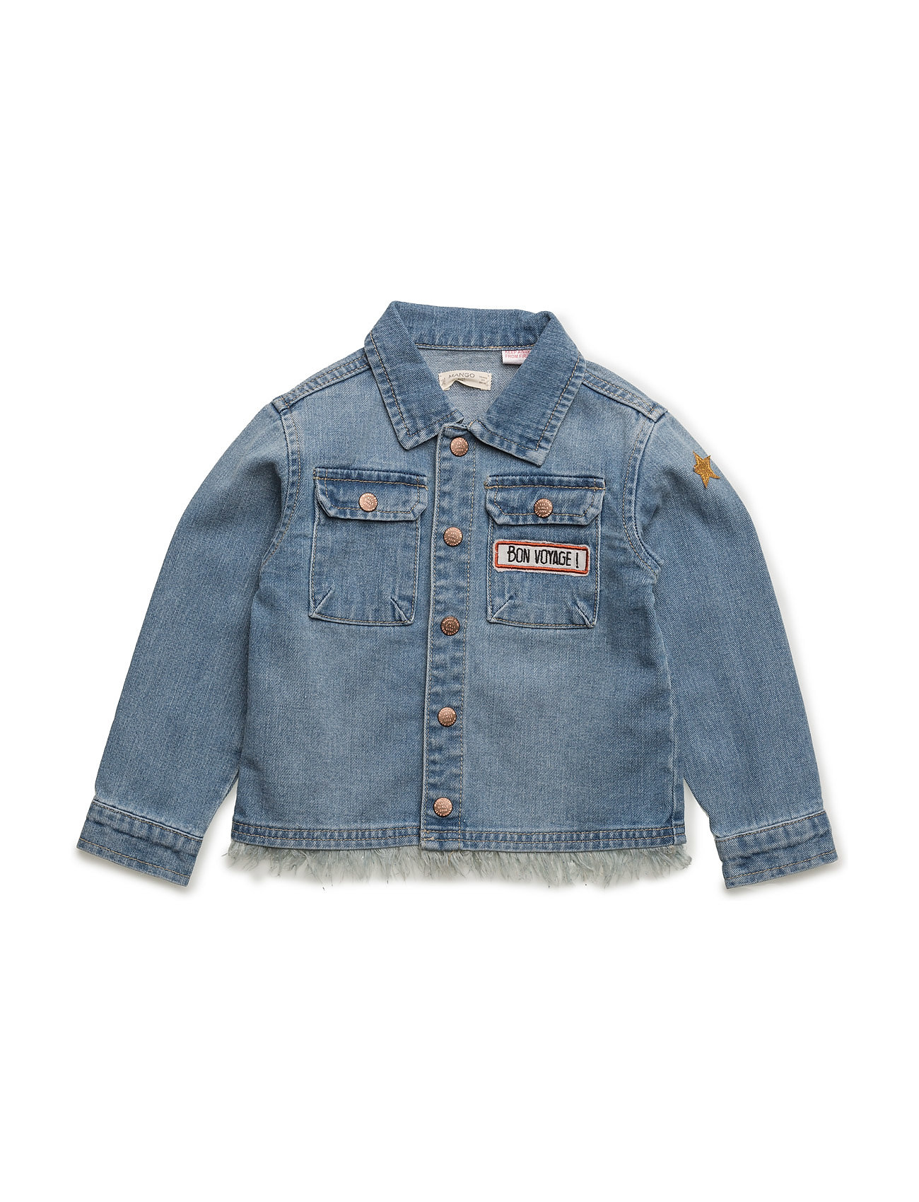 f0194621 Fine Patch Medium Denim Jacket Mango Kids Jakker & Kåper til til hverdags  og fest