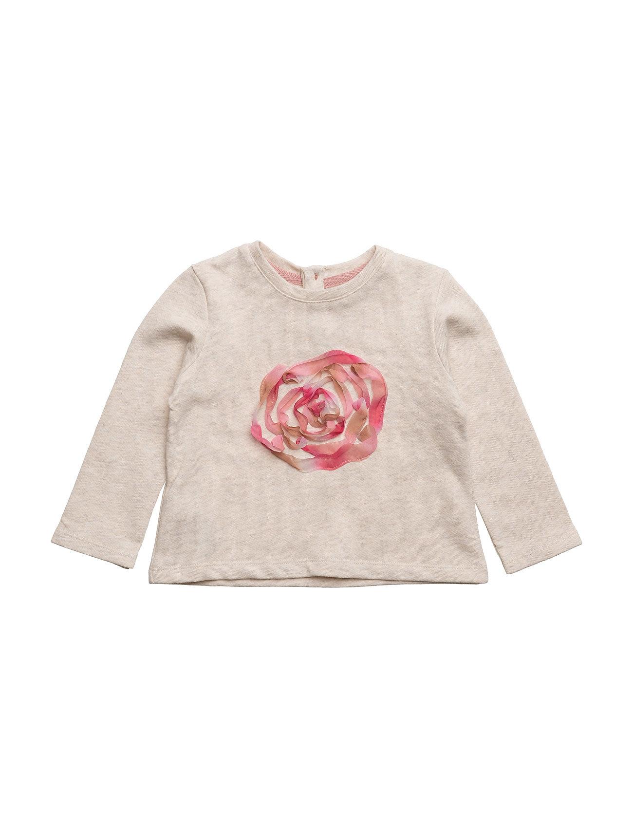 Embossed Design Sweatshirt Mango Kids  til Børn i Lt Pastel Brown