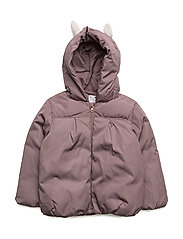 Hood quilted coat - LT-PASTEL PURPLE