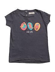 Embossed design t-shirt - NAVY