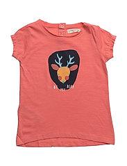 Embossed design t-shirt - PINK