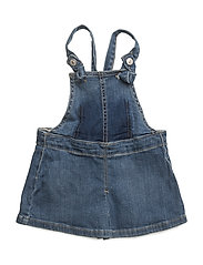 Medium denim pinafore dress - OPEN BLUE