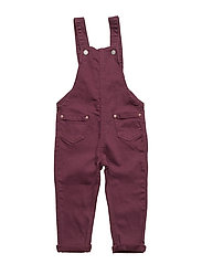 Denim dungarees - DARK RED
