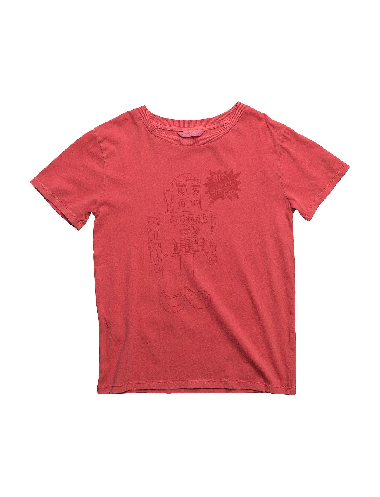 Robot Print T-Shirt Mango Kids Kortærmede t-shirts til Børn i Rød