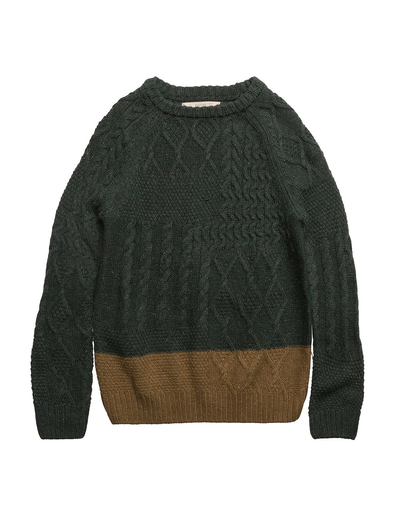 Bicolor wool sweater fra mango kids fra boozt.com dk