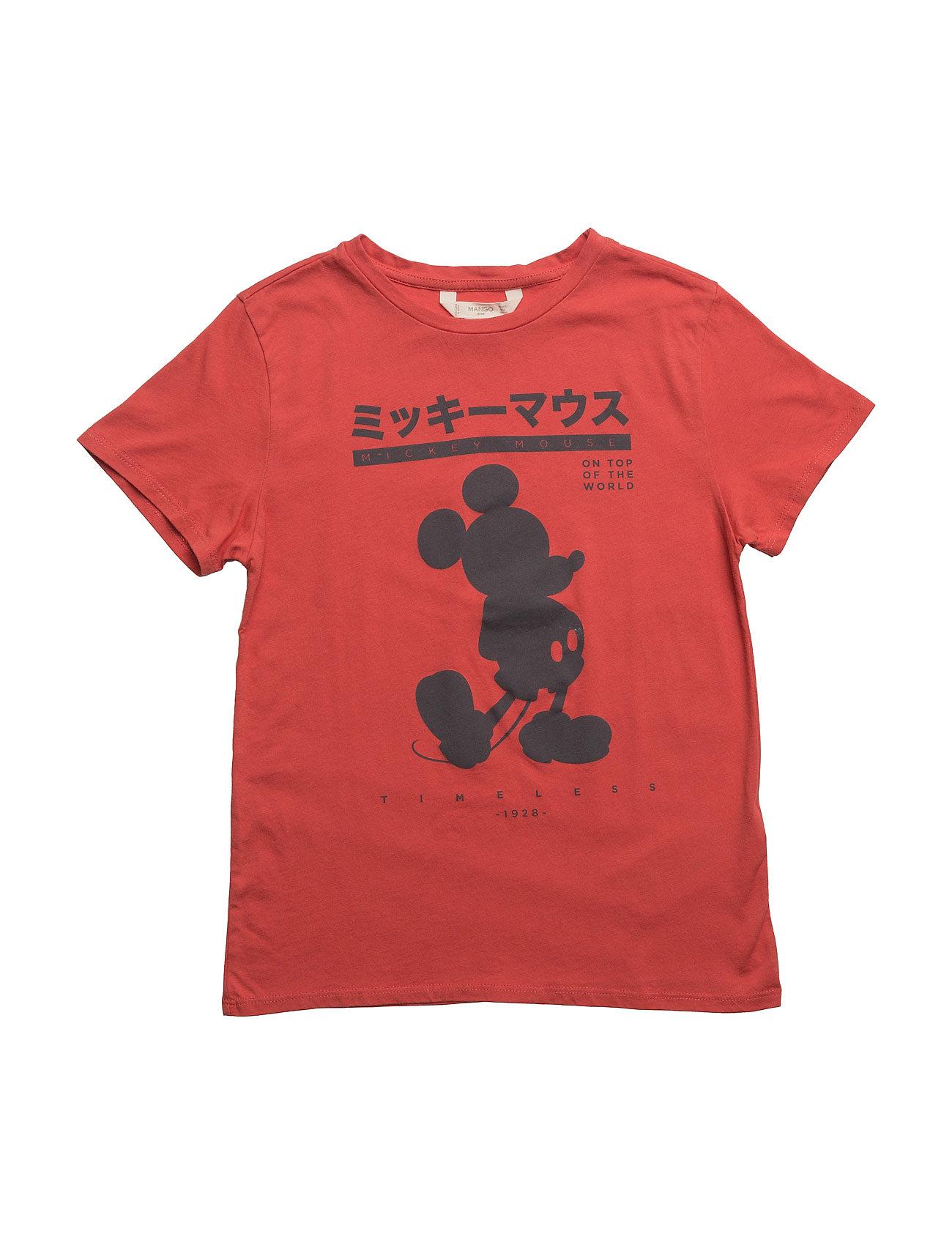 Mickey Mouse T-Shirt Mango Kids Kortærmede t-shirts til Børn i Rød