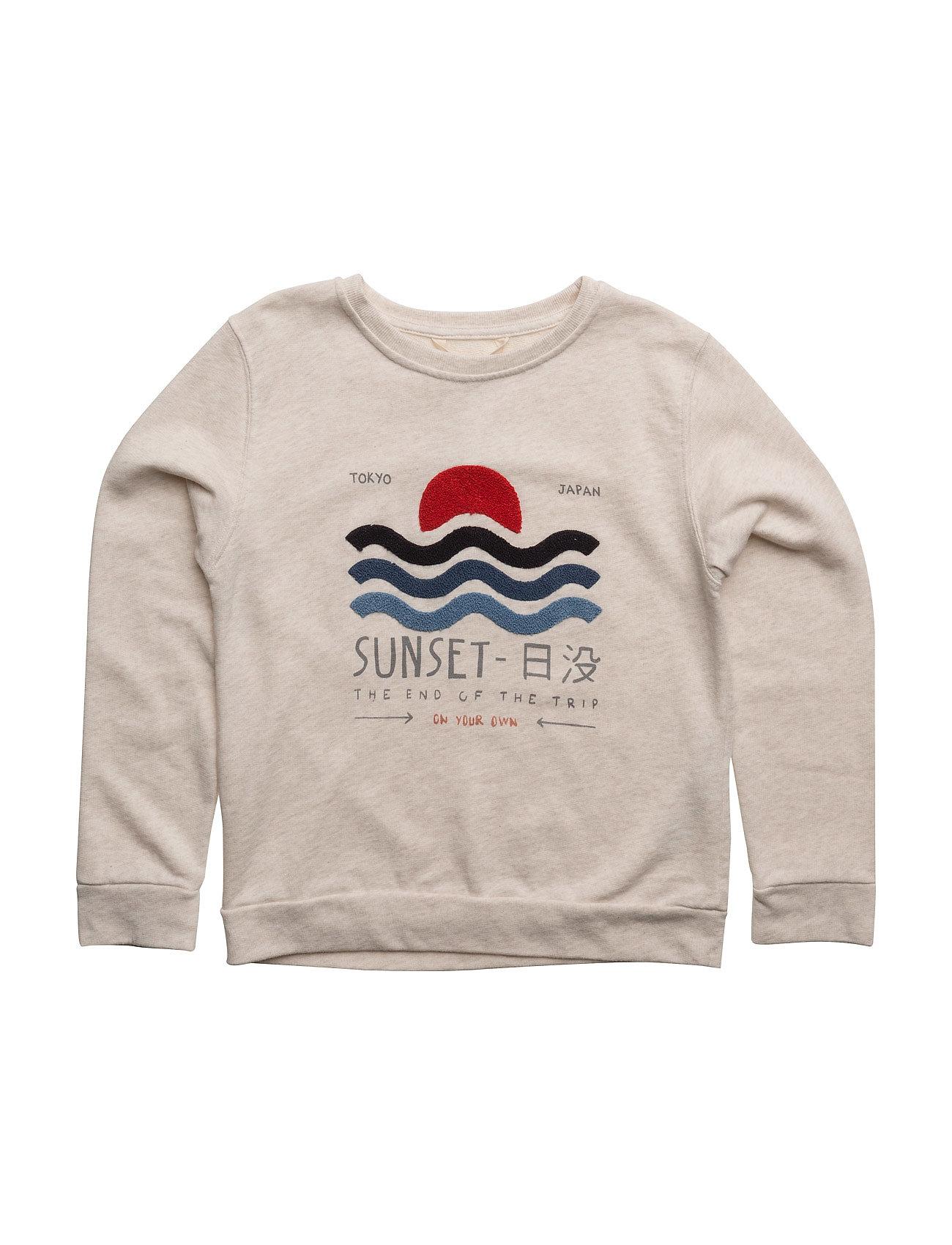 Embossed Design Sweatshirt Mango Kids Striktrøjer til Drenge i
