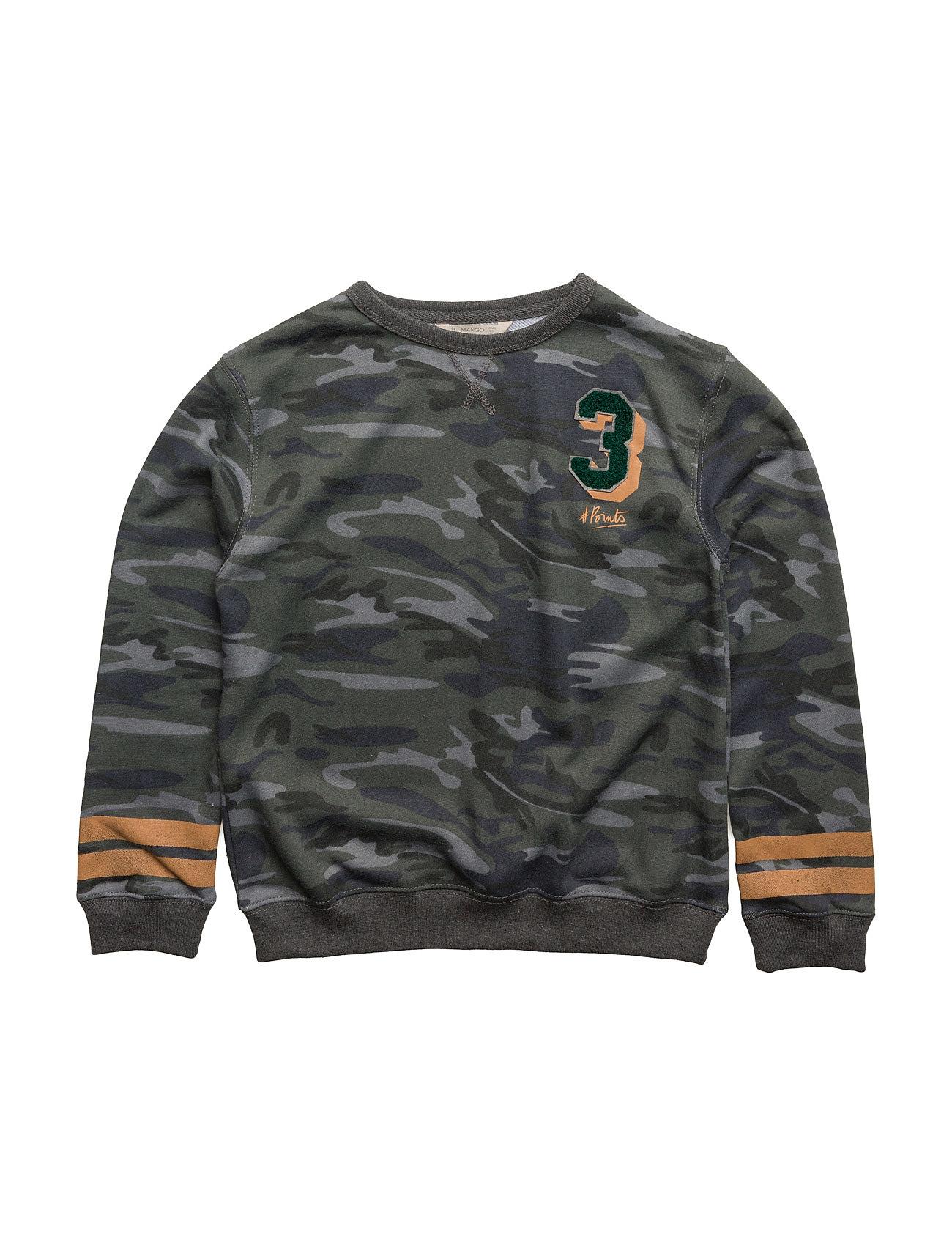 Embossed Design Sweatshirt Mango Kids Striktrøjer til Drenge i Beige - Khaki