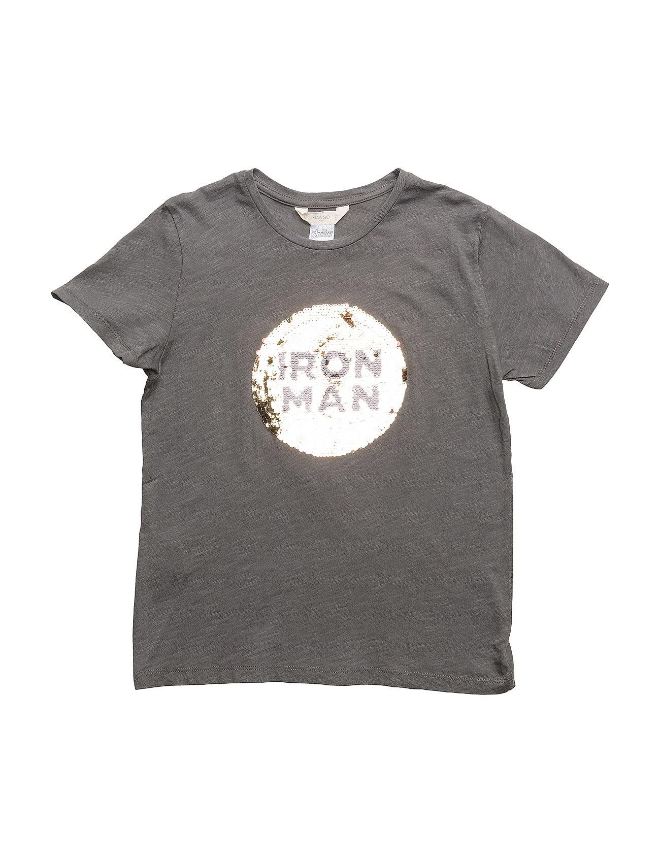 reversible sequins t shirt charcoal 129 kr mango kids. Black Bedroom Furniture Sets. Home Design Ideas