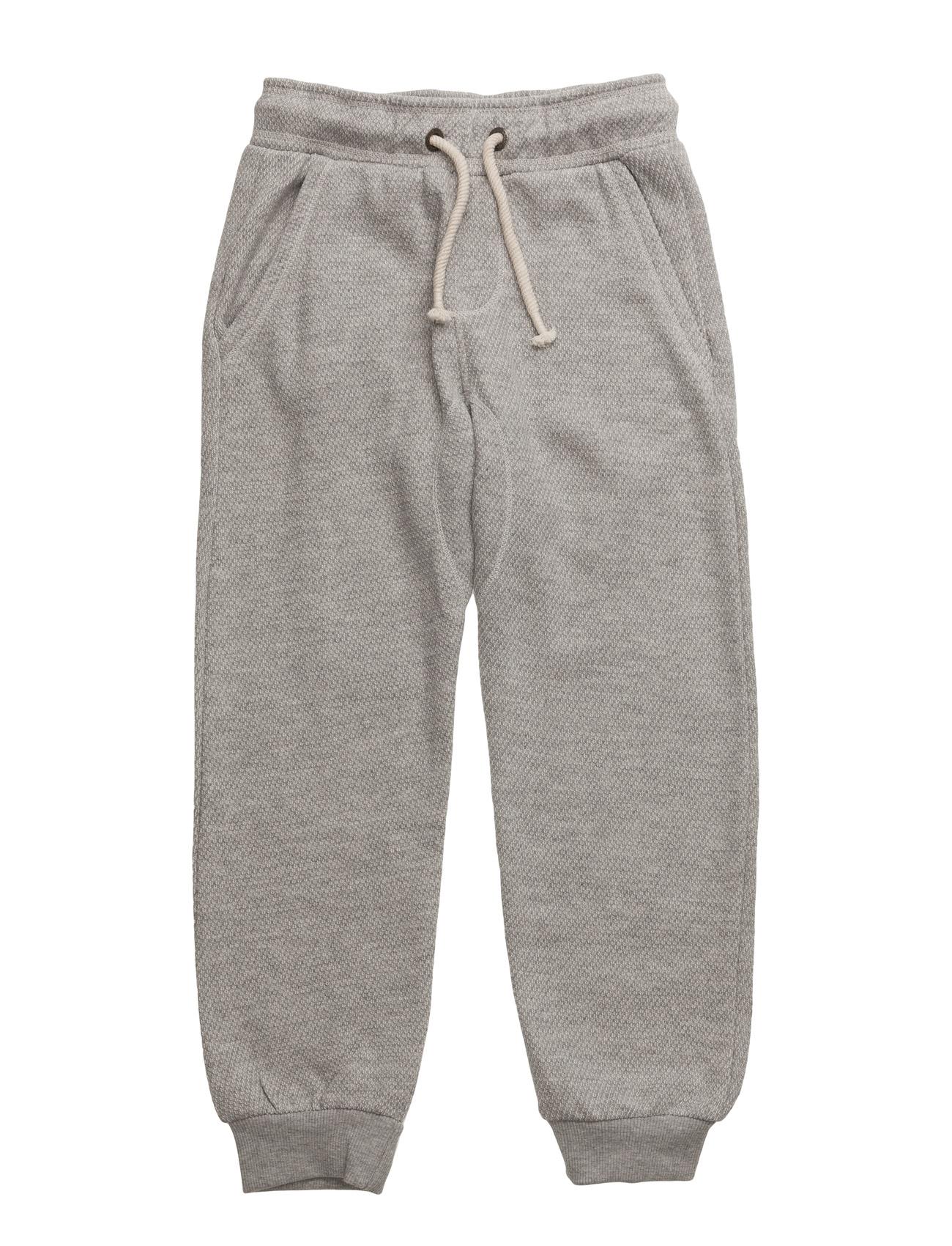 Textured Cotton Trousers Mango Kids  til Børn i Mellem grå
