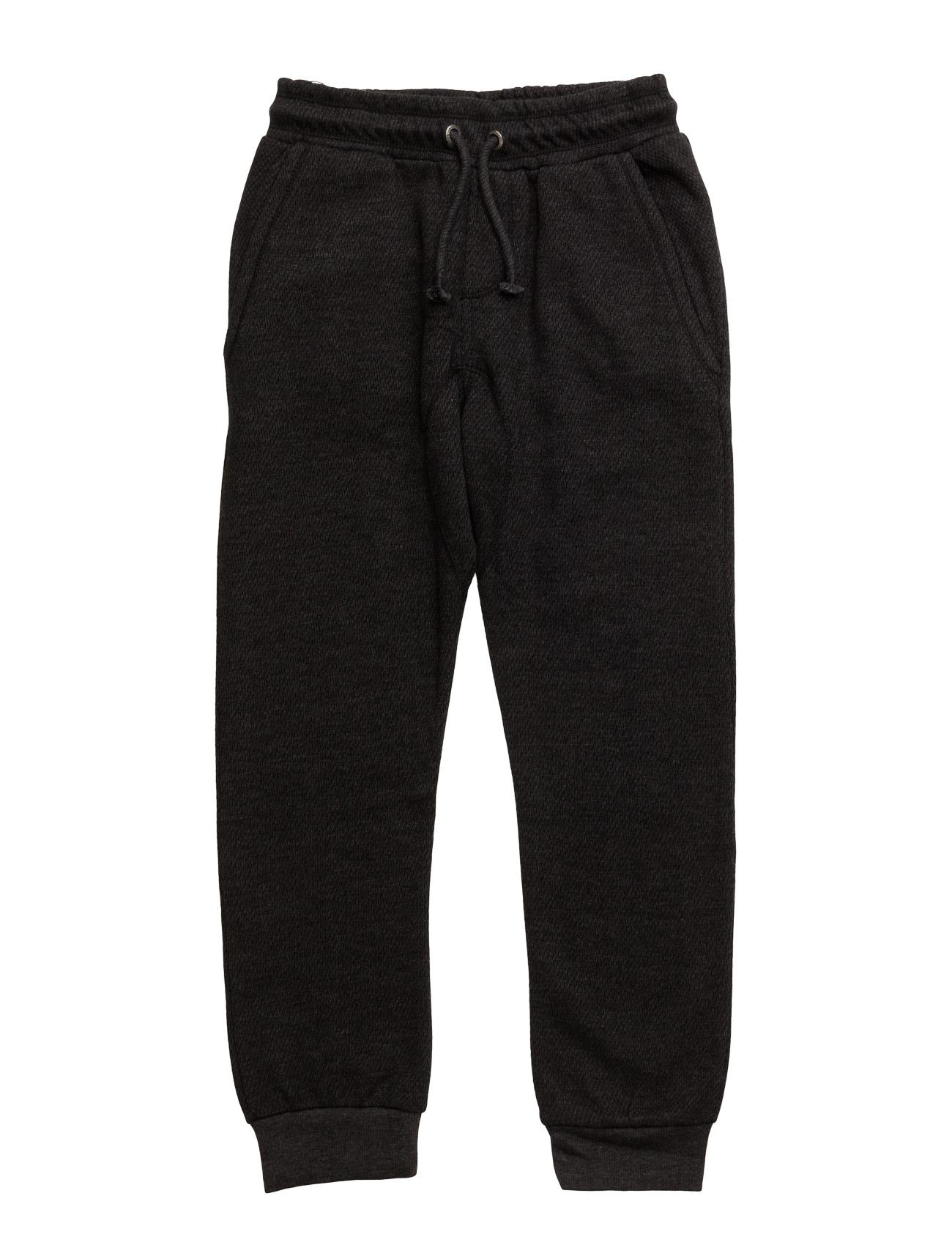 Textured Cotton Trousers Mango Kids  til Børn i Mørkegrå