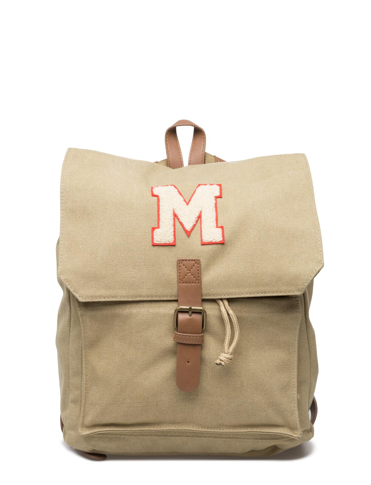 Canvas Logo Backpack Mango Kids Tasker til Børn i Light Beige