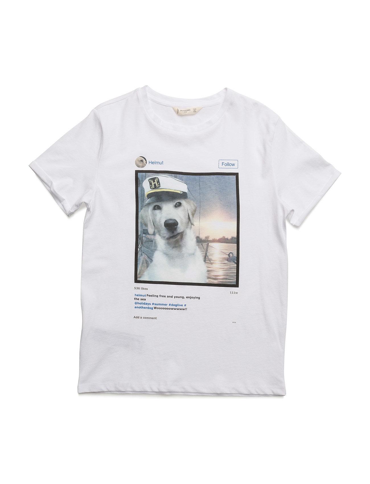 Image Cotton T-Shirt Mango Kids Kortærmede t-shirts til Børn i