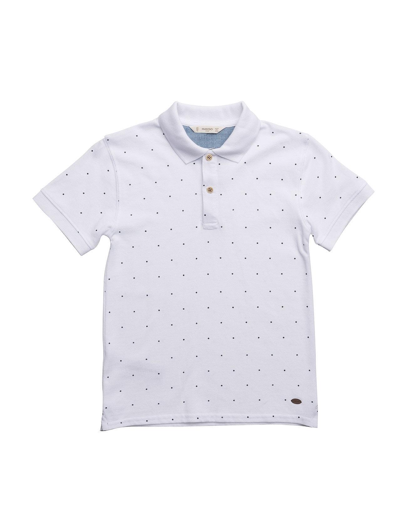 Printed Cotton Piqu Polo Shirt Mango Kids