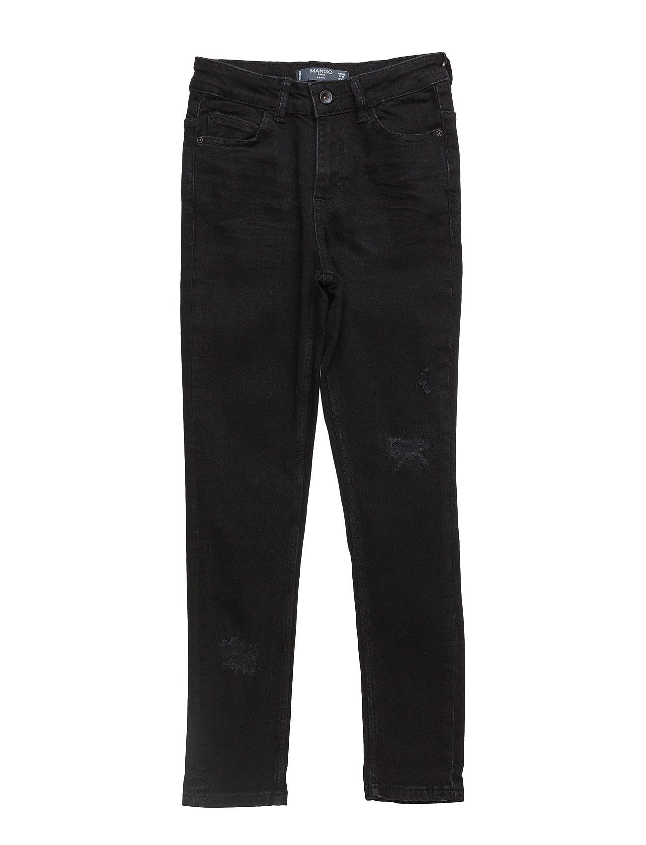 Skinny Black Jeans Mango Kids Jeans til Drenge i Open Grey