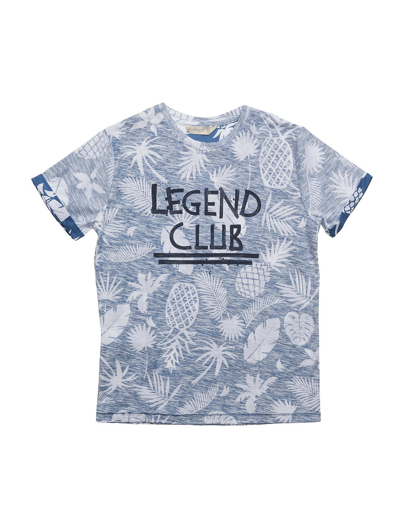 Printed Message T-Shirt Mango Kids Kortærmede t-shirts til Børn i
