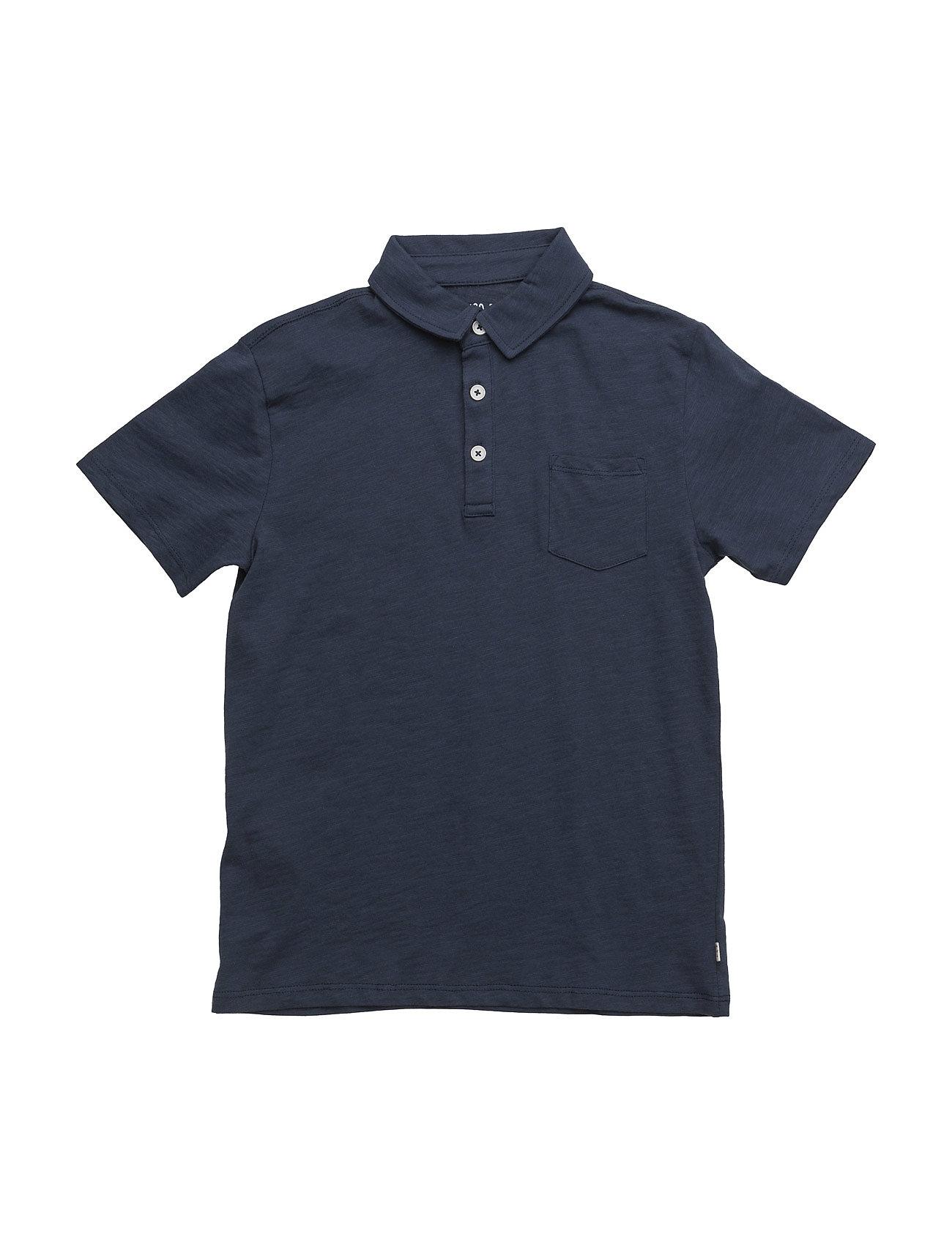 Cotton Basic Polo Shirt Mango Kids Kortærmede t-shirts til Børn i Navy blå