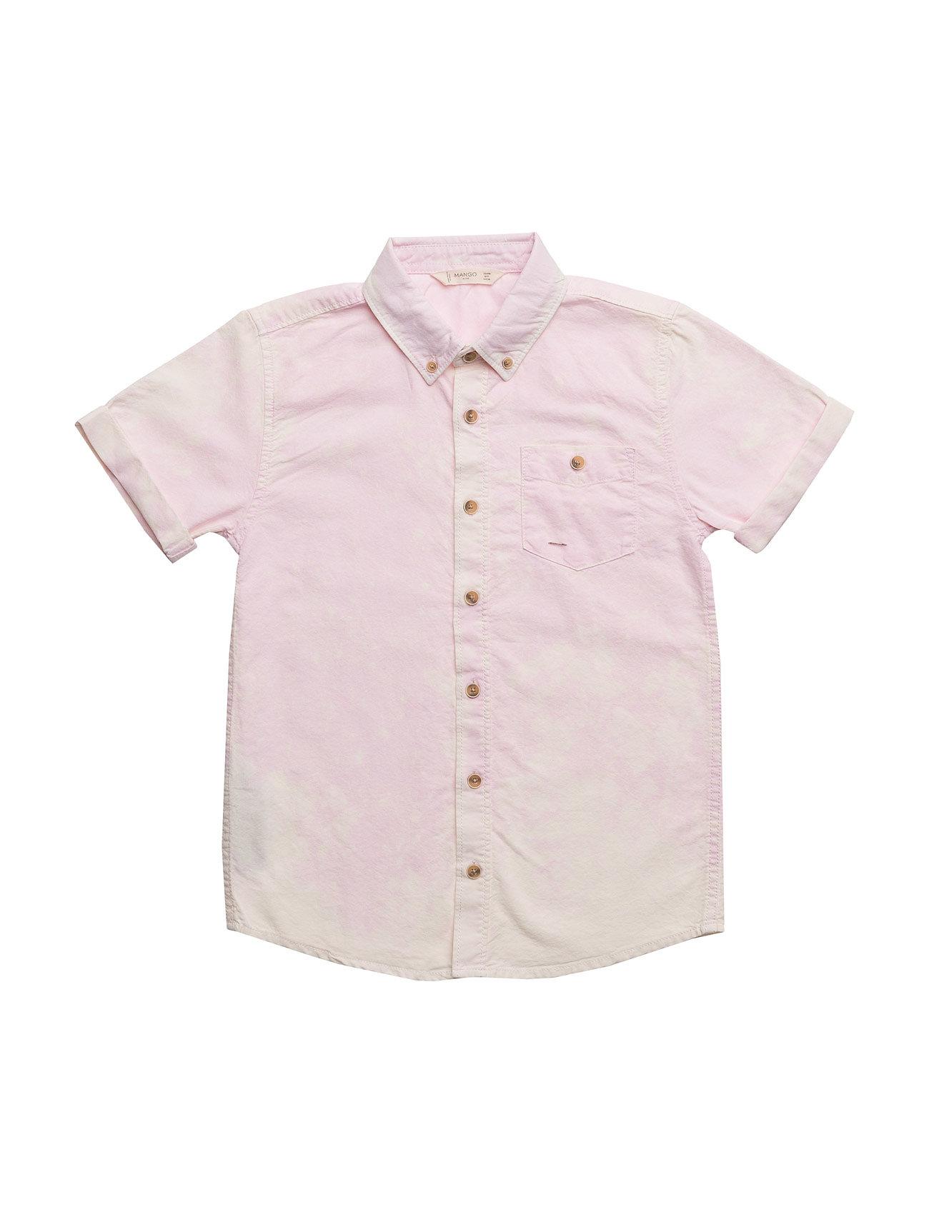 Chest-Pocket Cotton Shirt Mango Kids Trøjer til Drenge i