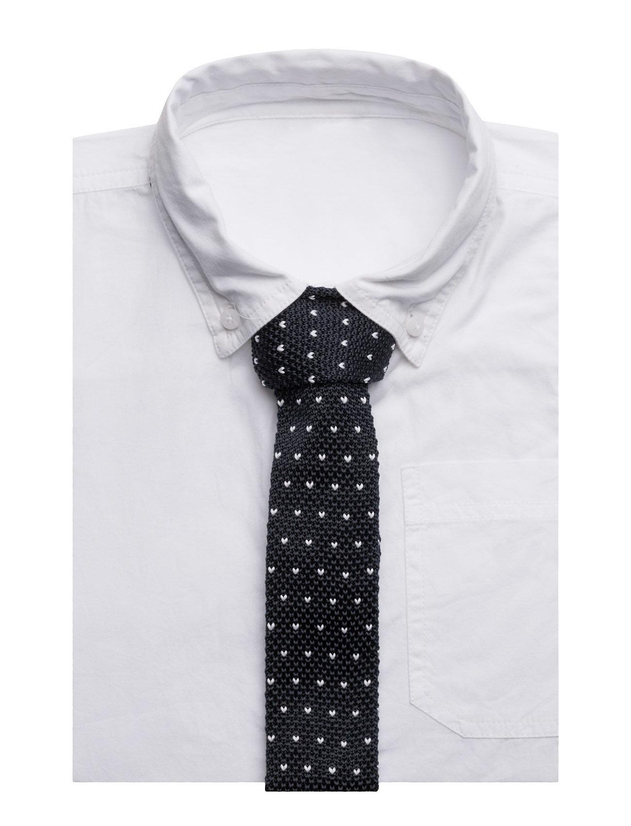 Textured Knit Tie Mango Kids Accessories til Drenge i Navy blå
