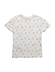 Printed cotton t-shirt - WHITE