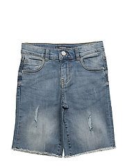 Light denim bermuda shorts - OPEN BLUE