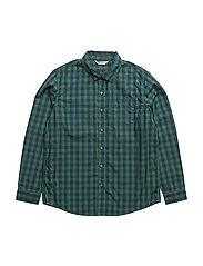 Chest-pocket cotton shirt - GREEN