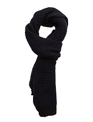 Knit scarf - MEDIUM BLUE