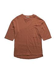 Pocket cotton t-shirt - MEDIUM ORANGE