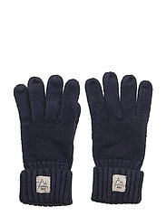 Knit gloves - MEDIUM BLUE