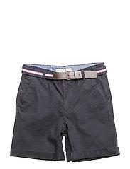 Belt cotton bermuda shorts - NAVY