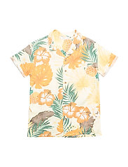 Tropical print shirt - YELLOW