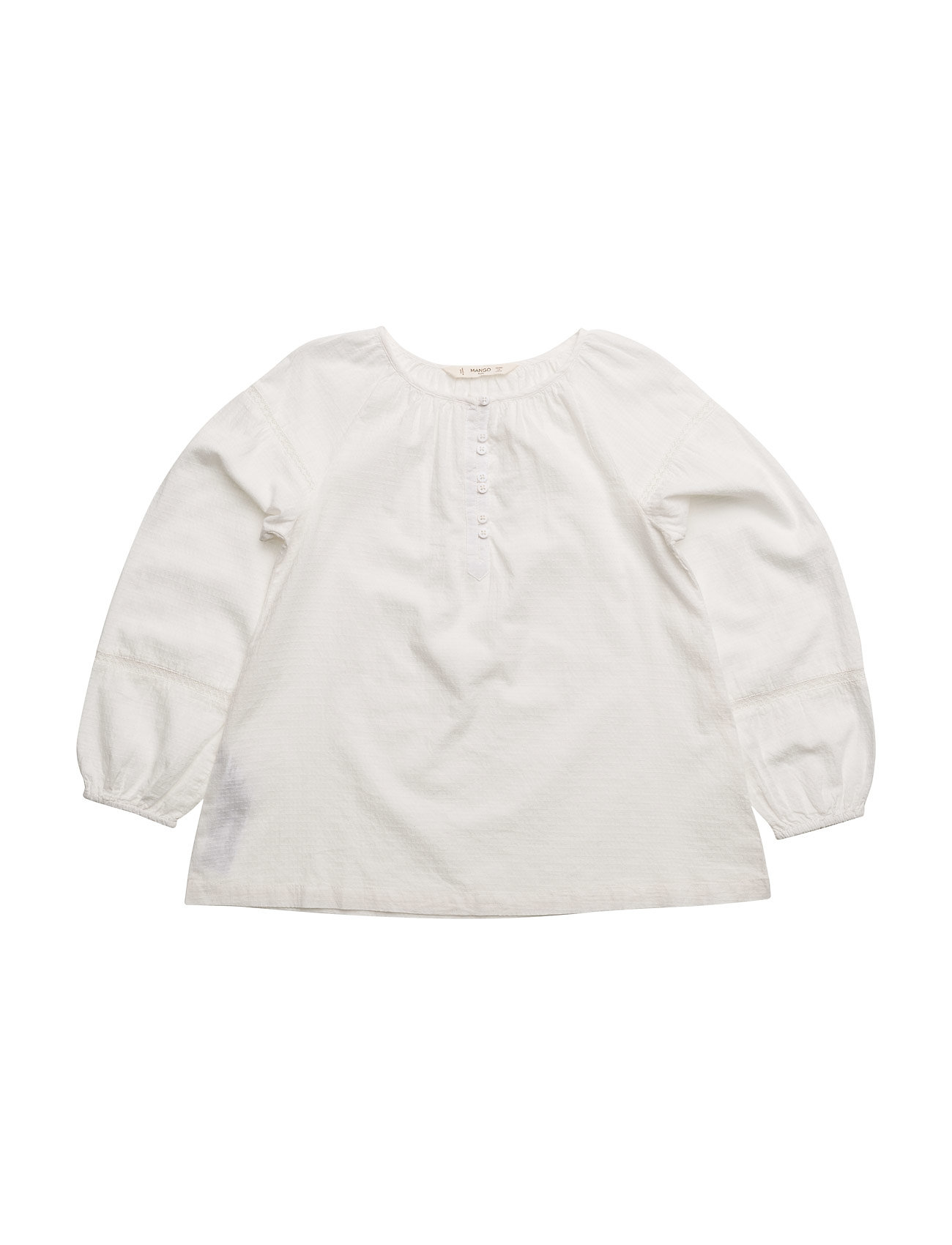 Openwork Detail Blouse Mango Kids  til Børn i Natural White