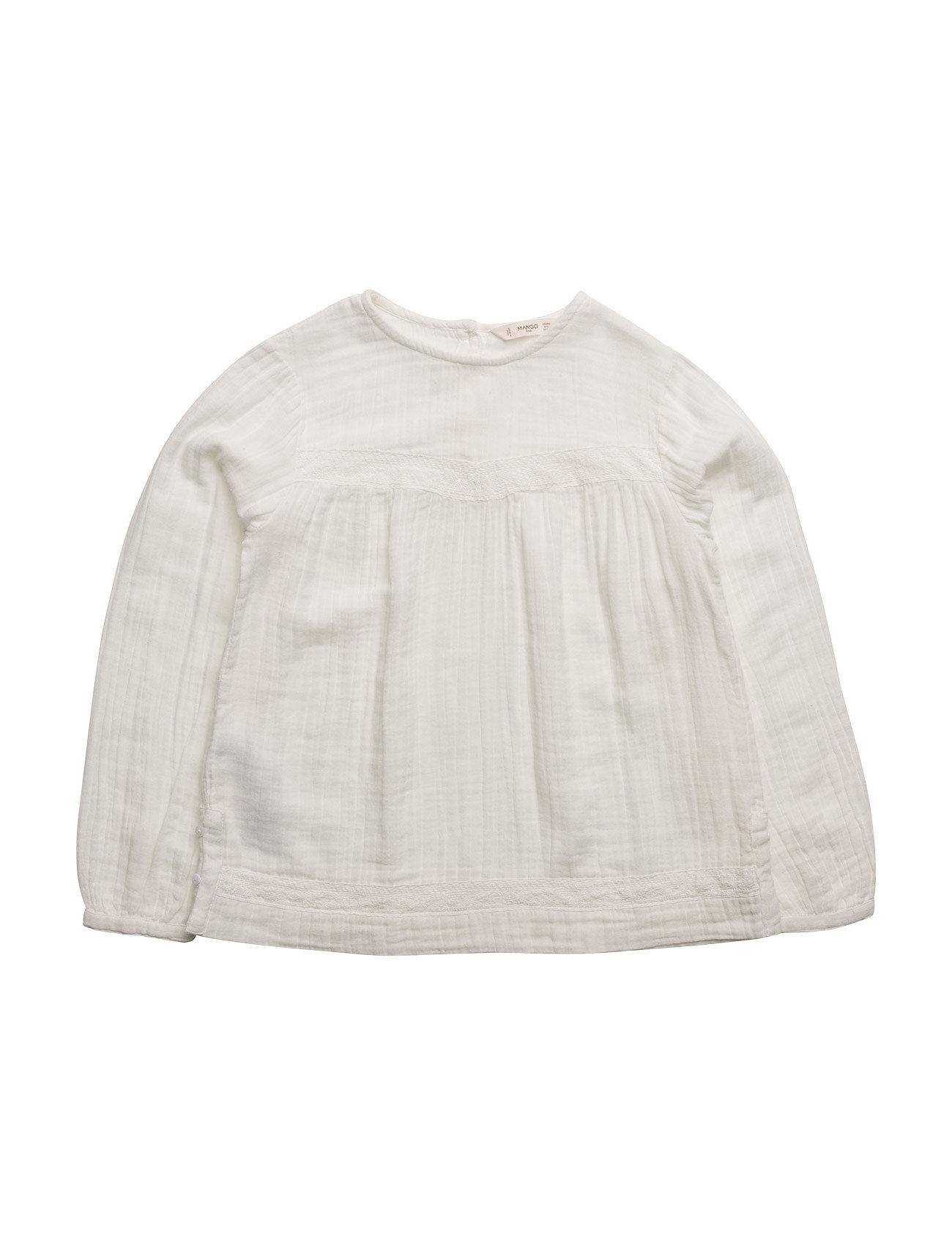mango kids Textured cotton shirt på boozt.com dk